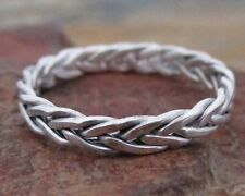 Celtic Braided Ring 3mm - Sterling Silver - Mens Womens Wedding Band - All Sizes
