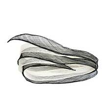 BR055  Sinamay shush trim with hand rolled edges 4x150cm-For fascinators & hats
