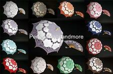 Set of matching lace parasol and fan - many colors available