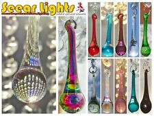 * 5 CHAINS CRYSTALS CHANDELIER DROPLETS LONG ORB PRISM PENDANT DROPS BEADS CHIC