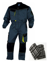 Delta Plus Mens Work Overalls Boiler Suit Coverall FREE KNEEPADS Mechanics DMCOM
