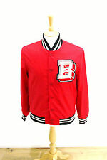Brooklyn Circus cotton College Varsity Baseball Jacket Made in USA red B LOGO