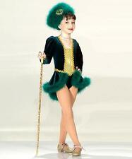 Green CHRISTMAS QUEENS Ice Skating Dress No Hat Dance Costume Child Sizes