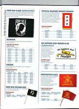 POW-MIA FLAGS, MILITARY SERVICE BANNER, SUPPORT OUR TROOPS, FIREFIGHTER FLAGS