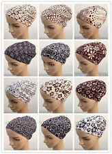 New Style Print Muslim Inner Hijab Caps Islamic Underscarf Hats