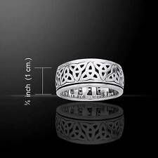 Trintiy Knots Beautiful Celtic Knotwork Silver Spinner Ring - Size Selectable