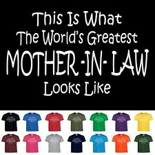 Worlds Greatest MOTHER IN LAW Funny Mothers Day Wedding Christmas Gift T Shirt
