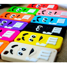 1PC 3D Cartoon Fashion Soft Rubber Silicone Back Case Cover Skin for iPhone 4 4S