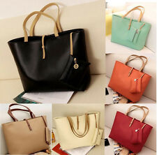 Women PU Leather Tote Shoulder Bags Hobo Handbags Satchel Messenger bag Purse  T
