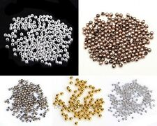 100 Pcs Silver/Gold/Copper/Bronze Tone Copper Metal Spacer Beads for making 3mm