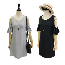 new lady clothes butterfly sleeve cute strapless dress plus size shirt dress
