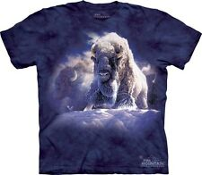 THE MOUNTAIN HIS DIVINE PRESENCE BUFFALO BISON AMERICAN PRIDE T SHIRT S-3XL