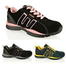 WOMENS GROUNDWORK SAFETY STEEL TOE LIGHTWEIGHT LACE UP TRAINERS UK SIZES 3-8