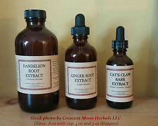 St. John's Wort Herbal Tincture Extract, 2, 4, 8 oz, Made in Maine, Organic