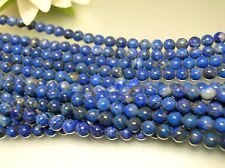 Vintage nature untreated Afghanistan Lapis 6mm round bead loose strand 16 inch