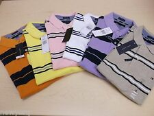 NEW Men's Tommy Hilfiger Short-Sleeve Polo Shirt Casual NWT Stripe Custom Fit