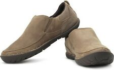 "Mens Caterpillar® ""Elkhorn"" Dune Lea. Slip-On Oxfords Shoes Medium $100 Size"