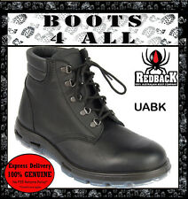 REDBACK Work Boots UABK OUTBACK STYLE Black Leather Lace Up Soft ToeNEW+Warranty