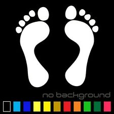 Foot Sticker Vinyl Decal People Feet footprint Paw Prints Tracks Car Wall Window