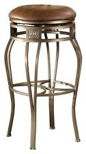 Backless Faux Leather Swivel Stools in Bar & Counter Heights - M [ID 200457]