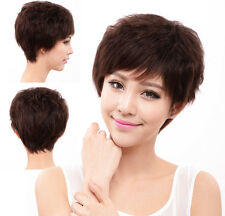 New fashion women lady full wig wigs hairpiece,100% real natural human hair mama