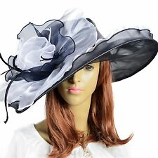 Women Floral Derby Hat Large Church Wedding Dress Party Hat S2-XY
