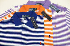 NWT Polo Ralph Lauren Striped Mesh Shirt$95 Orange Purple Blue  LT 2XLT 3XLT 2XB