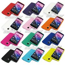 Soft Silicone Case Cover for Google LG Nexus 5 D820 D821 with Screen Protector