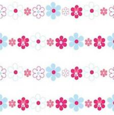 DISNEY MINNIE MOUSE BOWS DAISIES PINK BLUE CHILDRENS GIRLS 10M WALLPAPER DF72099