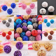 10Pcs Many Color To Choose Quality Clay Round Crystal Glass Spacer Beads