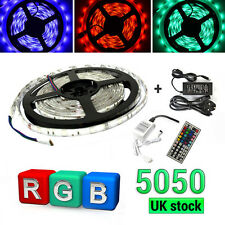5050 5M RGB SMD LED Strip Light 44Key IR Remote Controller Power Supply Adapter