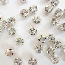 50/100xPRECIOSA Pointed Back Sew-OnDiamantes /Rhinestones.Crystal+A/B. 4.6-4.8mm