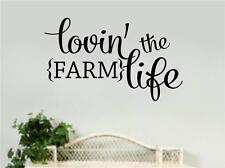 Loving The Farm Life Vinyl Decal Wall Stickers Words Letters Home Kitchen Decor