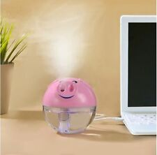Portable Pig USB Humidifier Ultrasonic Air Essential Oil Purifier Aroma Diffuser