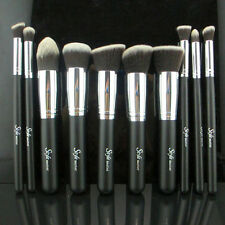 Pro MakeUp Cosmetic Set Eyeshadow Foundation wood Brush blusher Tools