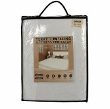 MATTRESS PROTECTOR WATERPROOF TERRY TOWEL SINGLE DOUBLE KING SUPER KING COT BUNK