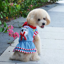 Good small girl dog pet clothes apparel red princess dress free ship size XXS-L