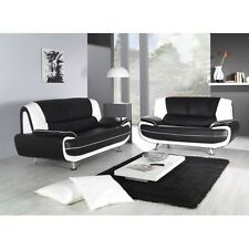 Cheap Sofa Retro 3+2 suite in Italian Design Faux Leather Free Collection