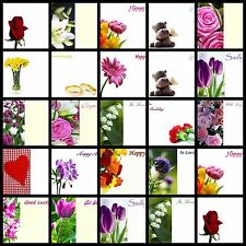 50 Florist Message Cards Birthday Baby Funeral Anniversary Thank you Flowers ML
