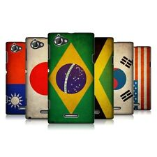 HEAD CASE DESIGNS VINTAGE FLAGS SET 1 BACK CASE FOR SONY XPERIA L C2105