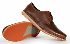 Clarks Men's Lace Up Sneakers Maxim Flow Oxford 68283 Brown New In Box Authentic