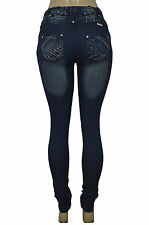 Stretch Push-Up Jeans (Levanta Cola) jeans in DARK BLUE 086