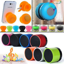 Waterproof Mini HIFI Wireless Bluetooth Handsfree Suction Speaker Stereo Mic