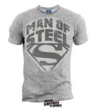 Superman Man Of Steel Shield DC Comics Licensed Adult Shirt S-XXL