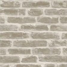 DECORPASSION RUSTIC GREY BRICK EFFECT TEXTURED EMBOSSED VINYL WALLPAPER J43307