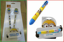Despicable Me 2 The Minions Deluxe 10 piece Stationery Set or Pencil Topper Set