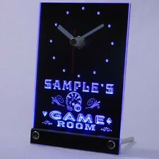tncpl-tm Game Room Personalized Bar Beer Decor Neon Led Table Clock