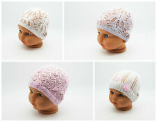 Girls Knitted Beanie Toddler Stretchy Spring  Summer Hat Cotton Net Cap 2-4Years