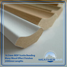 Laminate Wood MDF Scotia Floor Beading, Edging Strips, 20 x 2400mm Lengths (48m)