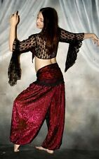 We3 Belly Dance Renaissance Gypsy Pirate Pantaloons Harem Pants Reversible